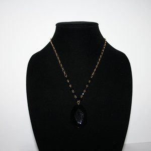 Vintagejelyfish Jewelry - Gold and black statement necklace